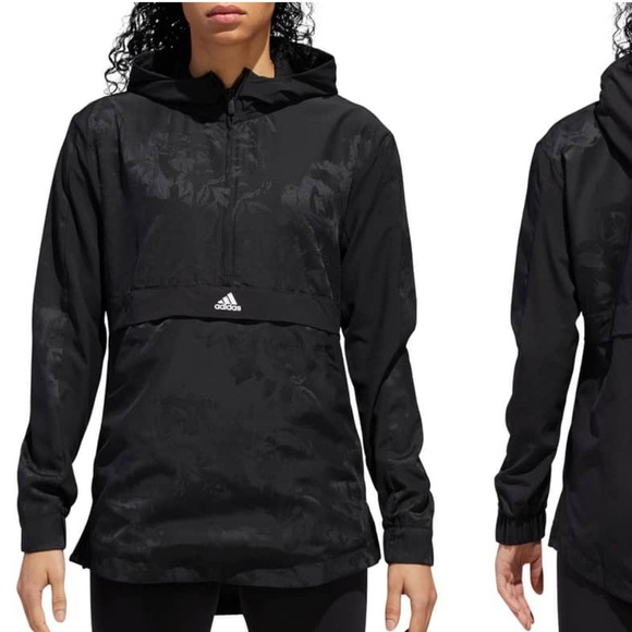 Brand new Adidas Woven Shell Hooded Pullover! NWT
